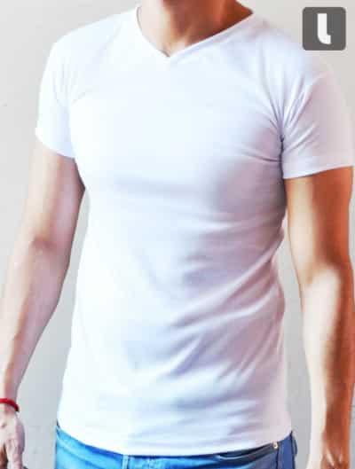 f818542011be1 Playera cuello tipo V para hombre – Leonsso